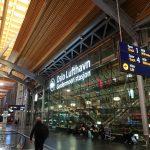 オスロ空港で夜を明かす
